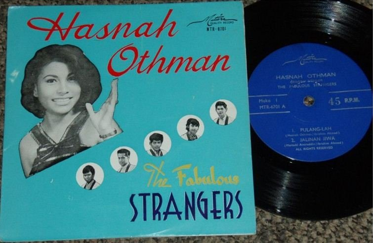 Hasnah & The FABULOUS STRANGERS Malay psych pop EP 6701 (225)
