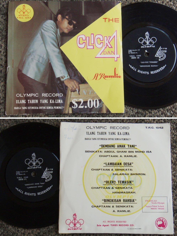 A.Ramlie & THE CLICK 4 Malay Psych Freak EP 1042 (224)