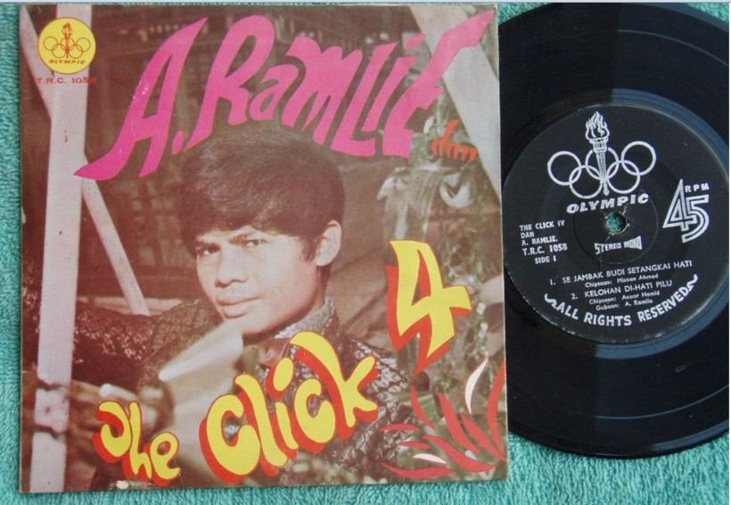 A.Ramlie & THE CLICK IV Malay surf pop beat EP 1058 (193)