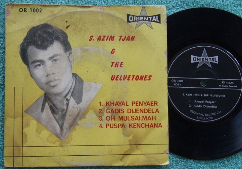 Azim &The VEVELTONES Malay pop psych beat EP 1002 (169)