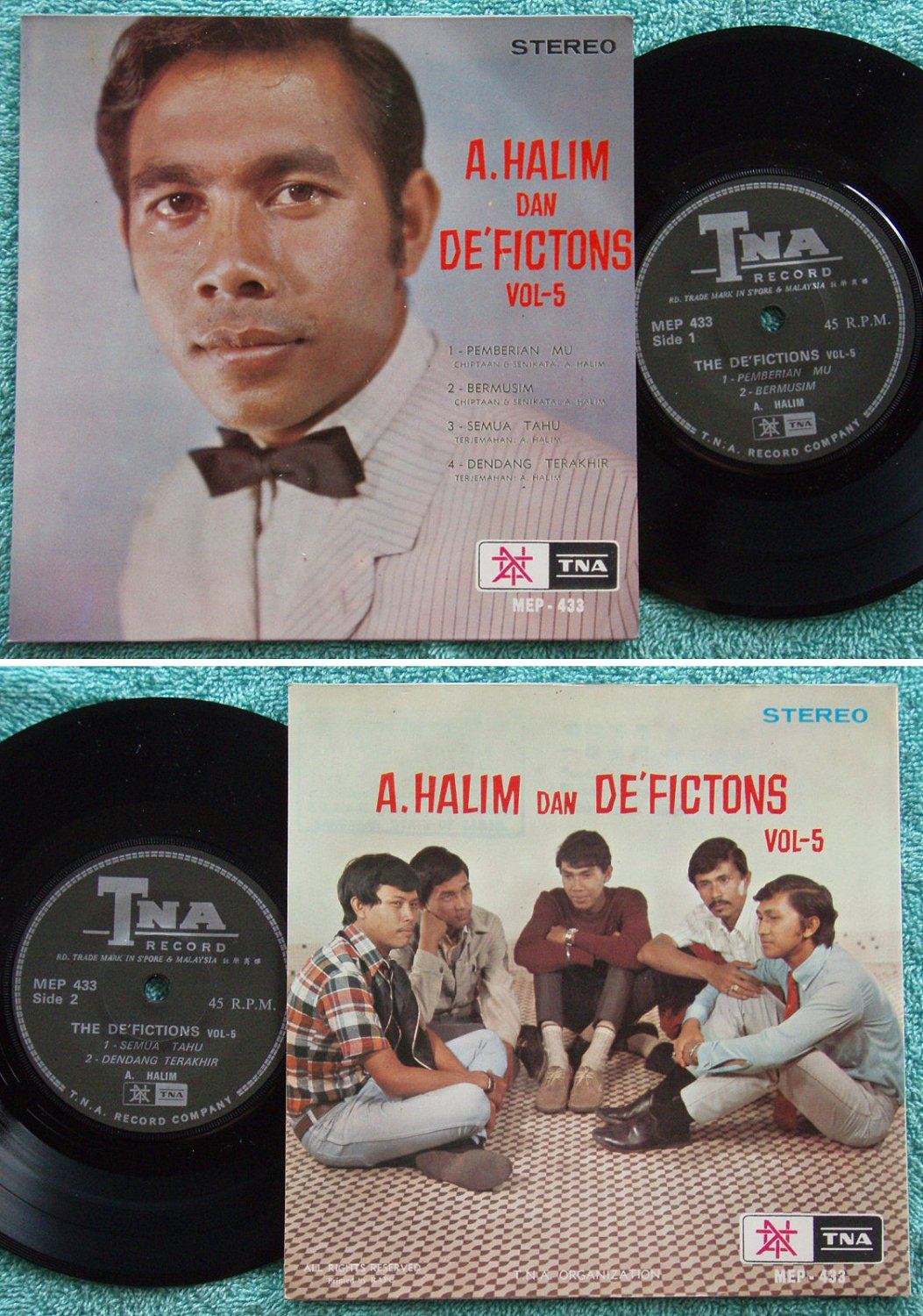 Halim & DE'FICTIONS vol.5 Malay pop beat EP 433 (114)
