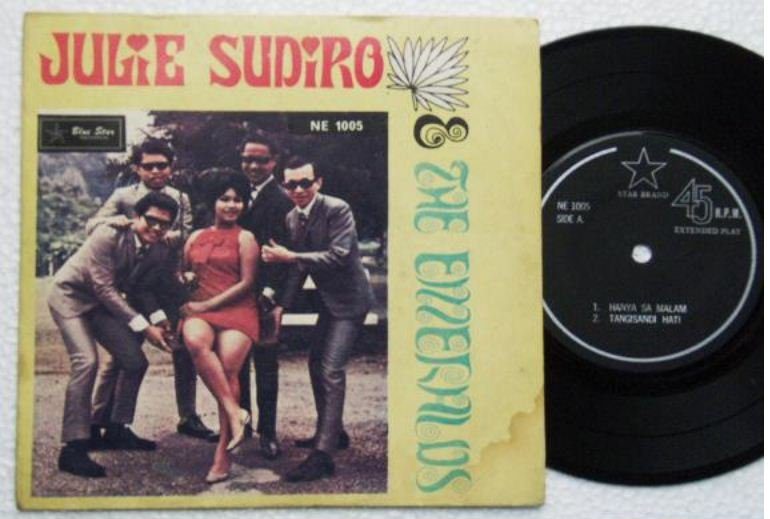 Indonesia JULIE SUDIRO-The EMERALDS Malay Jazzy pop EP #NE1005 (4)