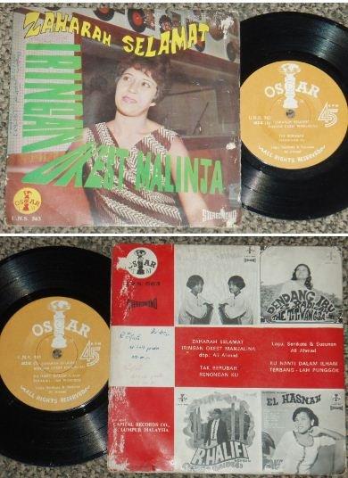 Zaharah and Okest Malinja Malay pop jazzy EP #UNS563 (513)