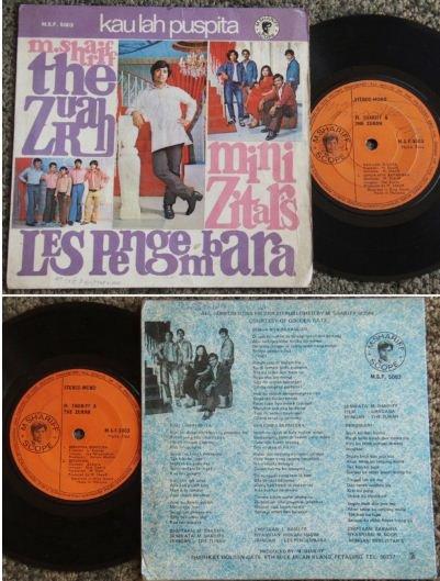 Shariff and The Zurah-Mini Zitars Malay pop EP #MSF5003 (465)