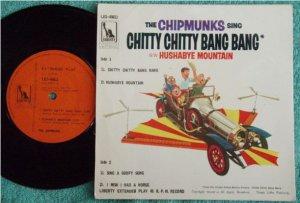 THE CHIPMUNKS Sing Chitty Bang Singapore EP #45011(698)