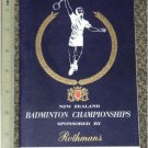 1963 Rothmans New Zealand Badminton Championship program R2