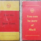 1950's Shell Malaya Road Map of Ipoh Town-R1