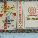 very old Malaya cigarettes pack-BRITANNIA (S7)