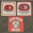 Malaysia 3 Anchor beer coasters #J-S6