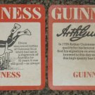 2 Guinness Asian paper coasters #O-S6