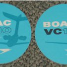 2 BOAC VC10 Airlines coasters #U-S6