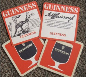 4 Malaysia GUINNESS Coasters-diving & wording-S1