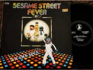 Malaysia LP Sesame Street Fever OST The Bee Gees #697 (11)