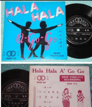 "60's ORKES TROPICANO Chinese A Go Go guitar instr 7"" EP 670(98)"