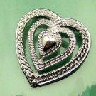 GERRYS Vintage Triple Heart Brooch Open Textured Design