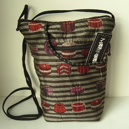 MARUCA City Girl Bag Handbag Purse Exclusive Tarts Fabric Black