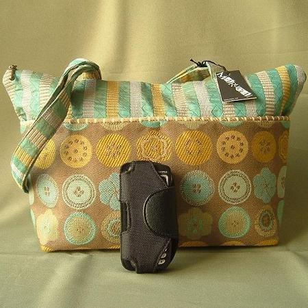 MARUCA O Jackie Bag Handbag Purse Exclusive Veranda Fabric