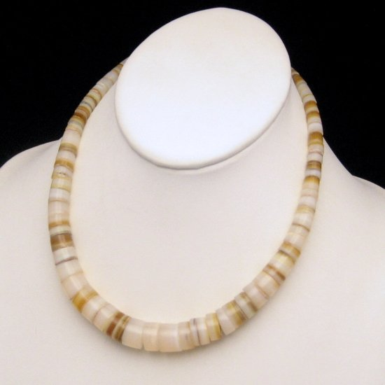 Vintage Necklace Graduated Wheel Shaped Agate Beads