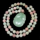 HOBE Vintage Necklace Couturier Collection Rose Quartz Aventurine Beads with TAG