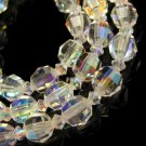 Gorgeous Vintage Aurora Boralis AB Crystal Beads Necklace