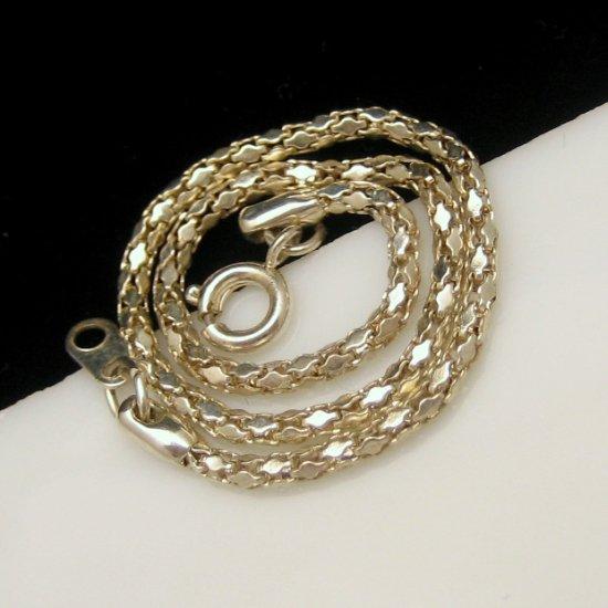 Vintage Dainty Pretty Bracelet Lovely Shiny Silvertone Panels Chain