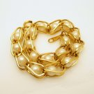 AVON Mid Century Caged Faux Pearls Vintage Bracelet Gold Plated Links Very Pretty
