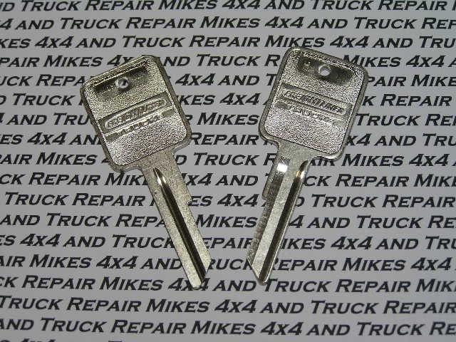 2 Freightliner Semi Heavy truck tractor key blanks keys blank factory OEM