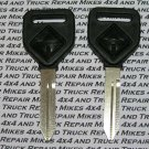 2 International Navistar truck tractor factory OEM plastic head key blanks with International logo