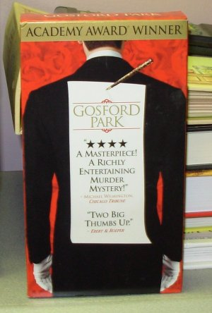 GOSFORD PARK ACADEMY AWARD WINNER MURDER MYSTERY HELEN MIRRIN CLIVE OWEN VHS VIDEO GENTLY USED (B34)