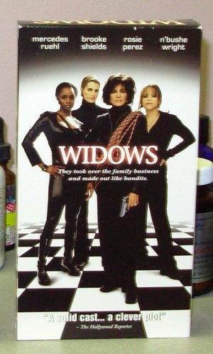 WIDOWS VHS STARRING MERCEDES RUEHL BROOKE SHIELDS ROSIE PEREZ THRILLER (B48)