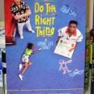 DO THE RIGHT THING VHS STARRING DANNY AIELLO OSSIE DAVIS RUBY DEE SPIKE LEE HUMOR DRAMA  (B49)