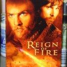 REIGN OF FIRE VHS STARRING MATTHEW MCCONAUGHEY CHRISTIAN BALE HORROR SCI FI (B47)