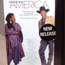 MADE IN AMERICA VHS MOVIE STARRING WHOOPI GOLDBERG TED DANSON COMEDY (B52)