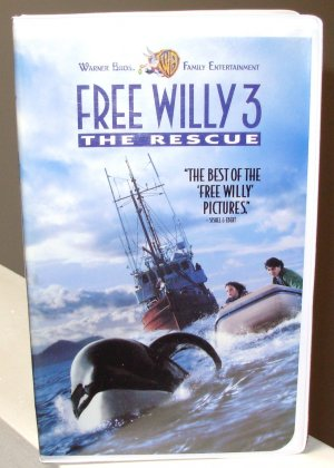 FREE WILLY 3 THE RESCUE VHS MOVIE STARRING JASON JAMES RICHTER AUGUST SCHELLENBERG (B52)