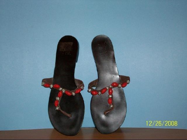Pelle Moda dark brown leather sandals - Size 9 1/2 M