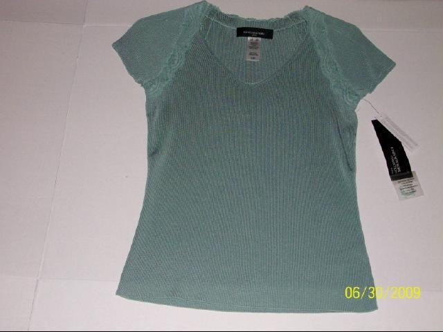 Jones New York Short Sleeve Knit Top - Size P/S
