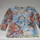 Caia Multi-Color Floral Top - Size Small