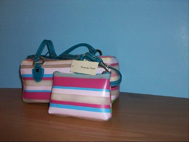 Amanda Smith Multi Color Striped Purse