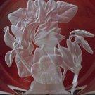Hoya Museum Crystal Flower of the Month Plate - December