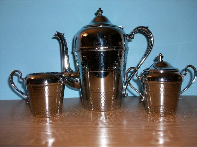 Cromwell Chromium Coffee Pot, Sugar and Cream Set