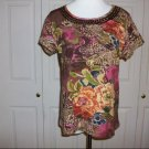 West End Colorful Floral Top - Size M