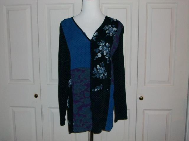 Carol Little Multi-Color Tunic Top - Size 14