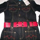 Princess Collection One Piece Denim Jumpsuit - Size 3T