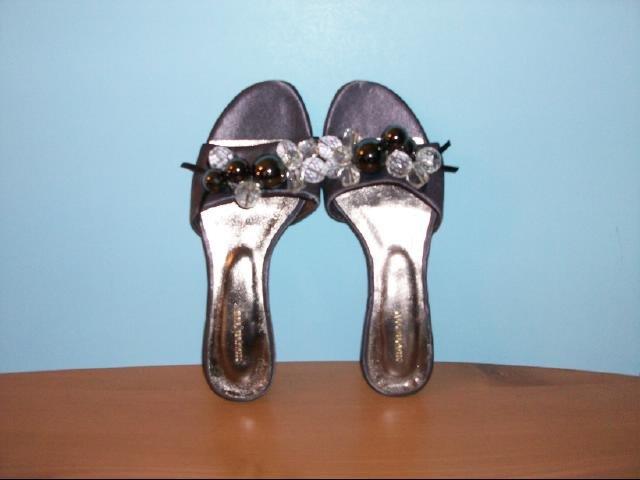 All Black brand Embellished Purple Flat Sandals - Size 6