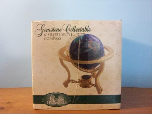 """Gemstone Collectable 6"""" Globe with Compass"""