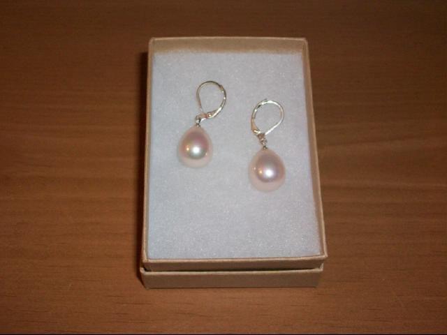 Baby Face Pink Sea Shell Drop Bead Pierced Earring