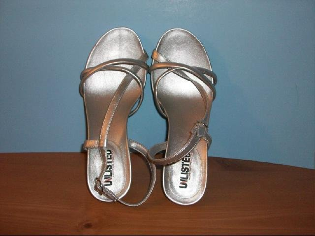 Unlisted Silver Heeled Sandals - Size 6 M