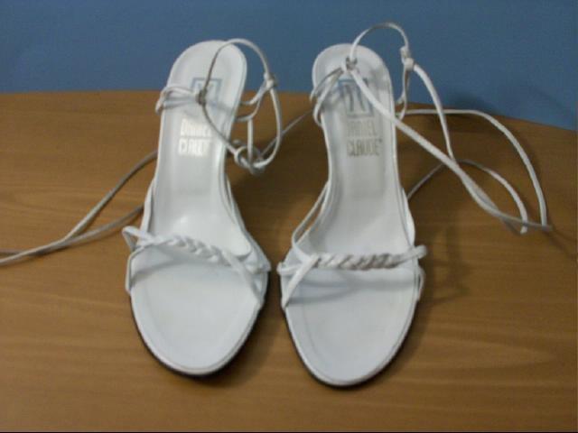 Daniel Claude White Heel Sandal - Size 7 1/2 M