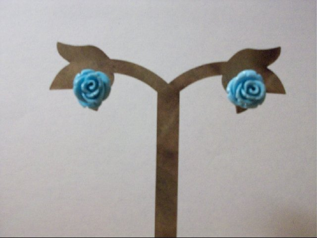 Turquoise Rose Stud Earrings