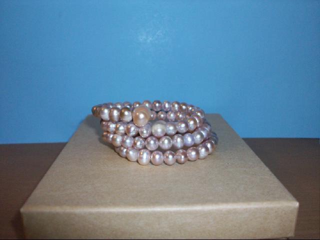 Pink Freshwater Pearl Wrap Bracelet